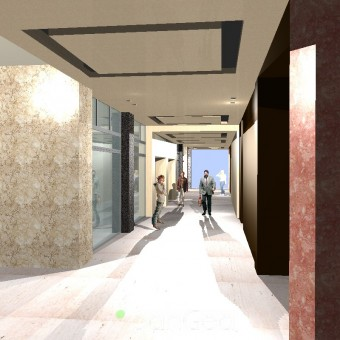 RESTYLING PUBLIC GALLERY WITH PRIVATE ENTRANCE OF THE TOWER HOUSING