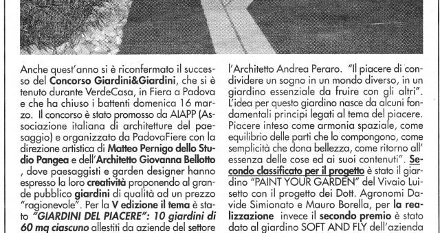 GIARDINI & giardini  2014   -  GIARDINI DEL PIACERE
